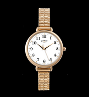 Gold Expandable Strap Large Face Limit Watch