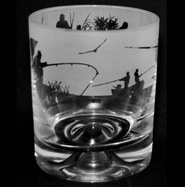 Fishing Tumbler Glass