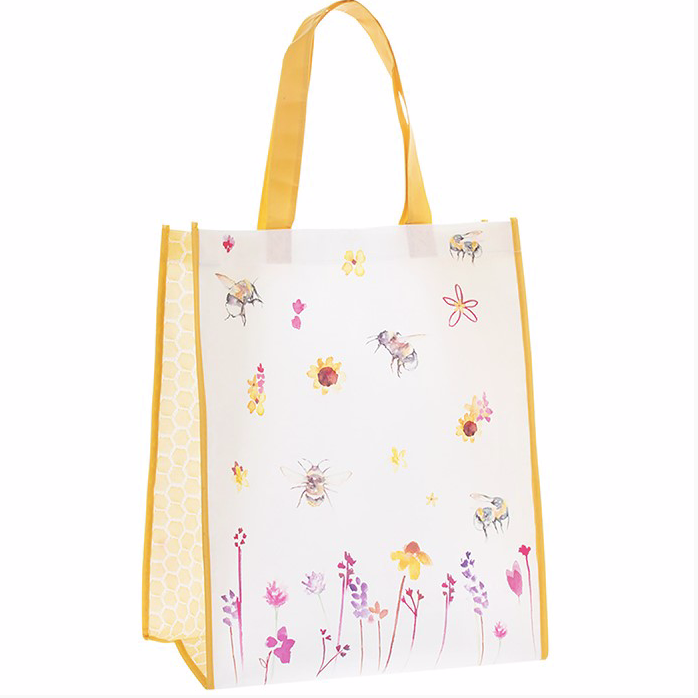 Painted Bee Shopping Bag