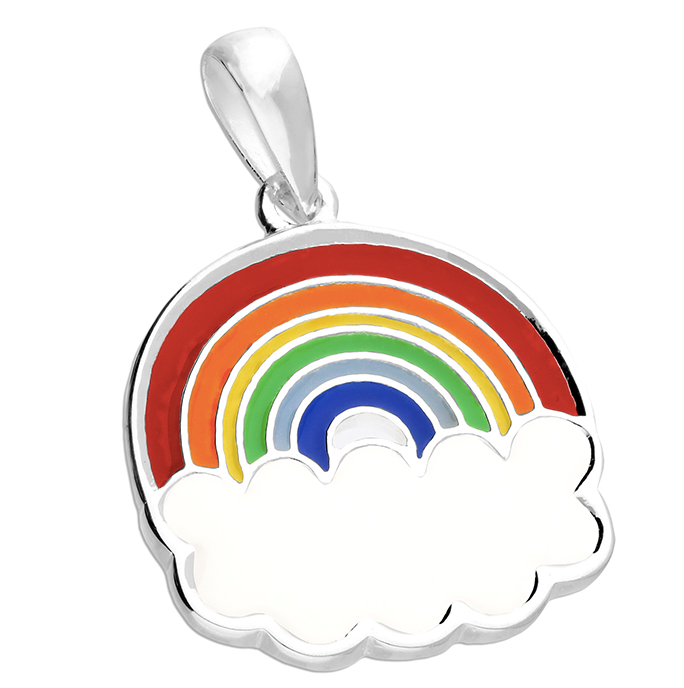 Rainbow Cloud Enamel Pendant