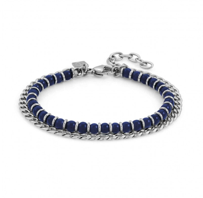 Nomination Blue Agate 2 Chain Bracelet