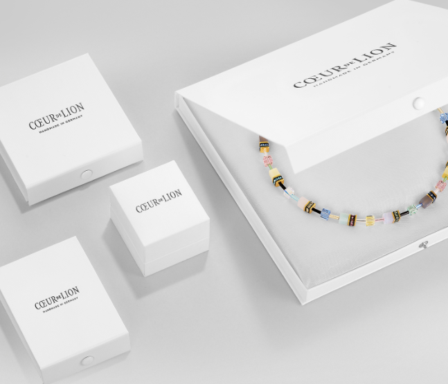 Coeur De Lion Multicoloured Swarovski Crystal Stud Drop Earrings