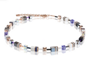 Coeur De Lion Rose Gold White & Purple GeoCUBE Necklace