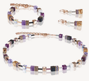 Coeur De Lion Howlite, Jasper & Purple GeoCUBE Necklace