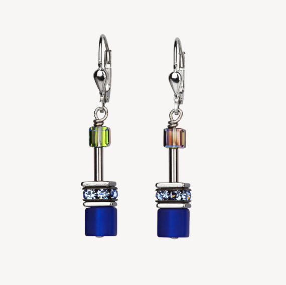 Coeur De Lion Cobalt Blue GeoCUBE Drop Earrings