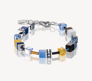 Coeur De Lion Blue & Yellow GeoCUBE Bracelet