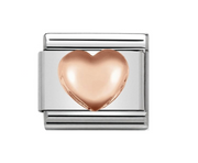 Nomination Rose Gold Raised Heart Charm