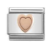 Nomination Rose Gold Heart Charm