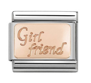 rose gold nomination girl friend charm classic 430108/13