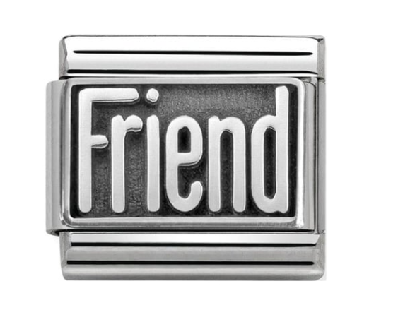 Nomination Silver Oxidised Friend Charm