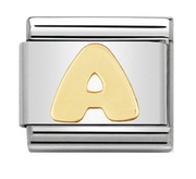 Nomination Gold Letter Initial A Charm