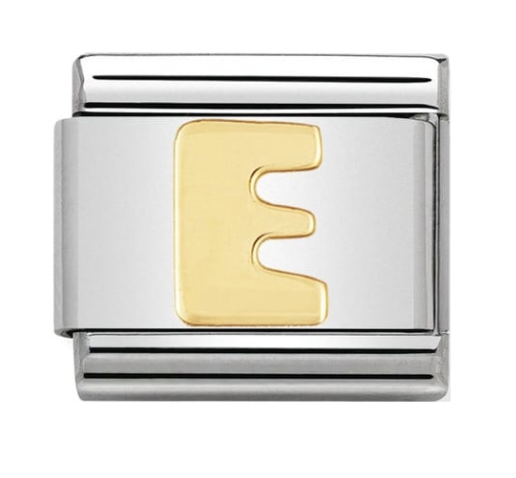 Nomination Gold Letter Initial E Charm