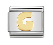 Nomination Gold Letter Initial G Charm