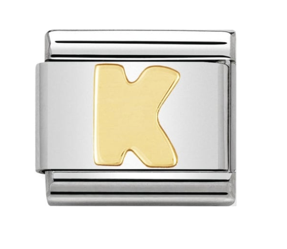 Nomination Gold Letter Initial K Charm