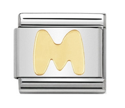 Nomination Gold Letter Initial M Charm