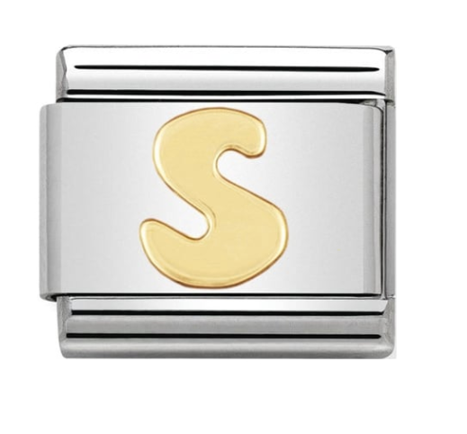 Nomination Gold Letter Initial S Charm