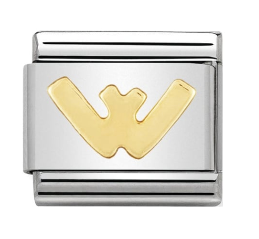 Nomination Gold Letter Initial W Charm