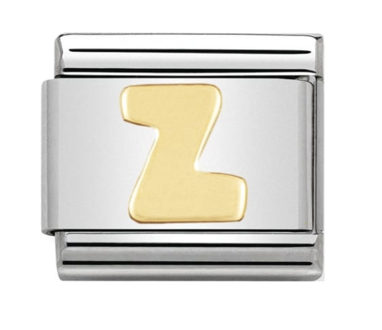 Nomination Gold Letter Initial Z Charm