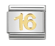 Nomination Gold 16 Birthday Charm
