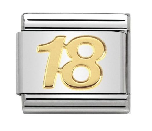 Nomination Gold 18 Birthday Charm