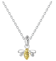 Dew Silver & Gold Dainty Bee Pendant