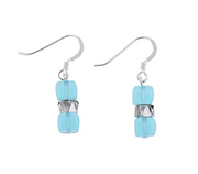 Carrie Elspeth Rainbow Sparkle Turquoise Drop Earrings