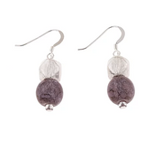 Carrie Elspeth Purple Heather Mottles Drop Earrings