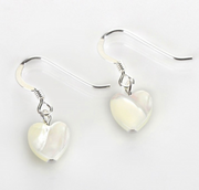 Carrie Elspeth Shell Heart Drop Earrings