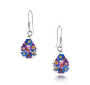 Shrieking Violet Purple Haze Teardrop Earrings