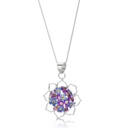 Shrieking Violet Purple Haze Lotus Flower Pendant