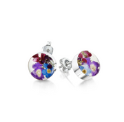 Shrieking Violet Purple Haze Round Stud Earrings