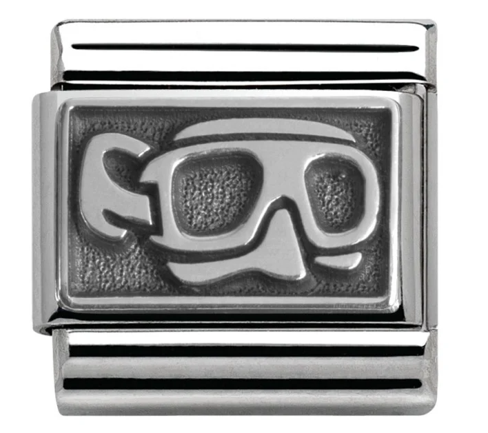 Nomination Silver Scuba Snorkel Diving Mask Charm