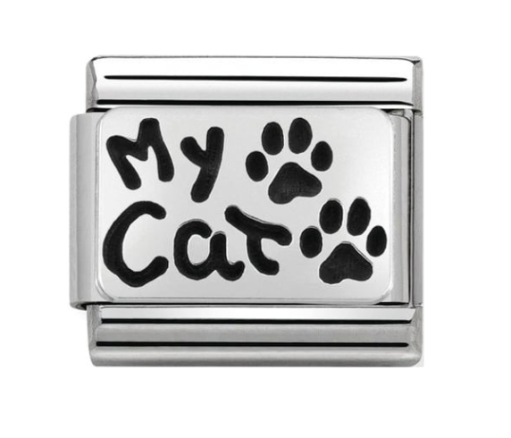 Nomination Silver My Cat Charm
