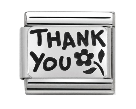 Nomination Silver Thank You Flower Charm