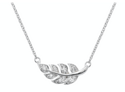 Dew CZ Leaf Necklace