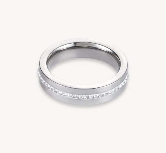Coeur De Lion Silver Crystal Ring