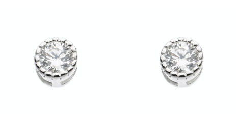 Dew Small CZ Stud Earrings