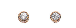 Dew Rose Gold Small CZ Stud Earrings