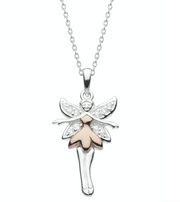 Dew Silver & Rose Gold Fairy Pendant