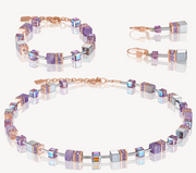 Coeur De Lion Purple Light Amethyst & Haematite Lilac GEOCube Necklace