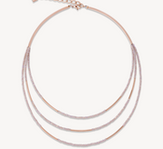 Coeur De Lion Rose Gold & Nude Waterfall Necklace