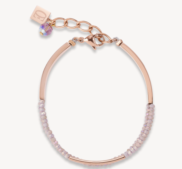 Coeur De Lion Rose Gold & Nude Waterfall Bracelet