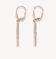 Coeur De Lion Rose Gold & Nude Waterfall Drop Earrings