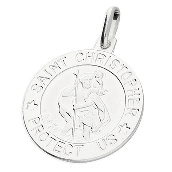 St Christopher Protect Us Pendant