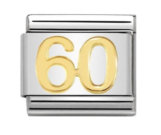 Nomination Gold 60 Birthday Charm