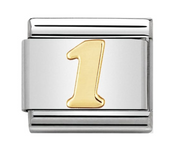 Nomination Gold Number 1 Charm
