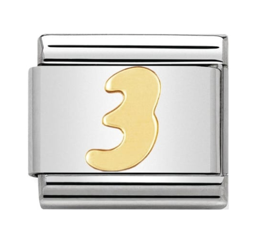 Nomination Gold Number 3 Charm