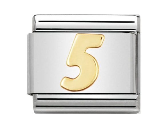 Nomination Gold Number 5 Charm