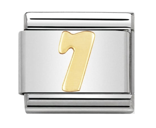 Nomination Gold Number 7 Charm