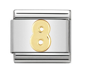 Nomination Gold Number 8 Charm
